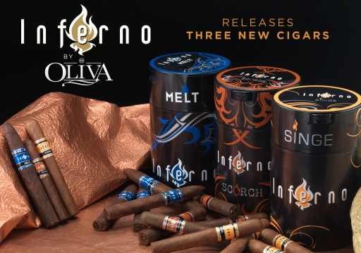 Oliva Launches Three New Inferno Cigars With Famous Smoke Shop
