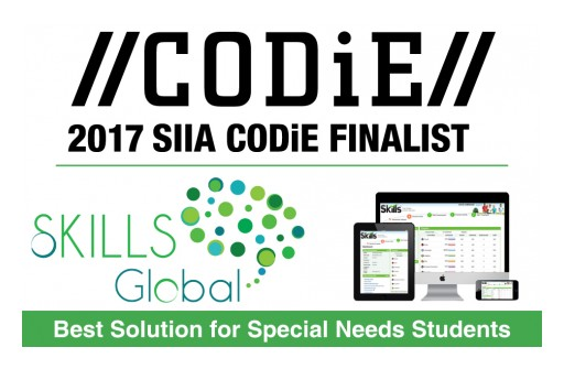 SKILLS Global Named SIIA Education Technology CODiE Award Finalist for Best Solution for Special Needs Students
