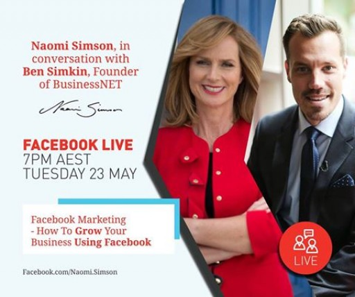 Ben Simkin Shares His Facebook Marketing Knowledge With Shark Tank Investor Naomi Simson