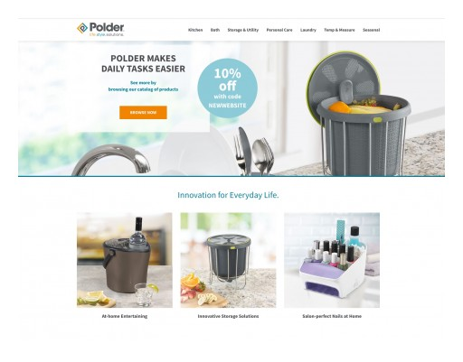 Polder Launches New Website and Award-Winning Branding Update