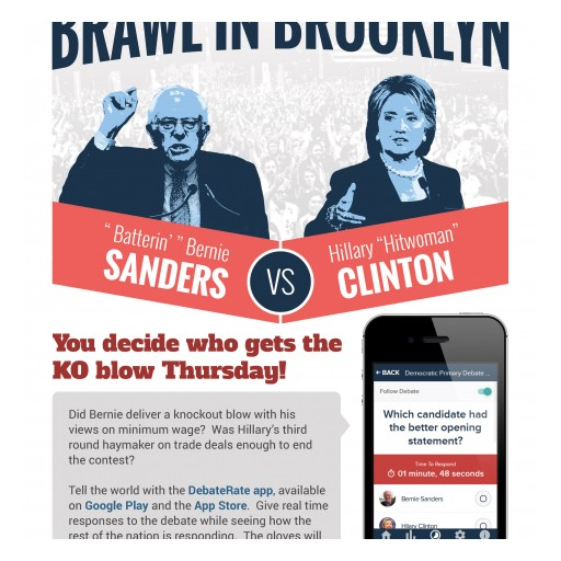 KDG and HCD to Perform Real-Time Polling With Their DebateRate App During the Democratic Debate