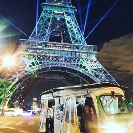 Electric Tuk Tuk Reaches Paris Climate Conference After a 20.000 Kilometer Journey