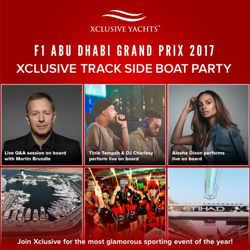Capture F1 Abu Dhabi Grand Prix Aboard Xclusive Yacht Charter This November