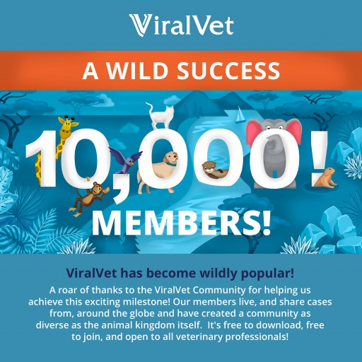 ViralVet Reaches Landmark 10,000 Members