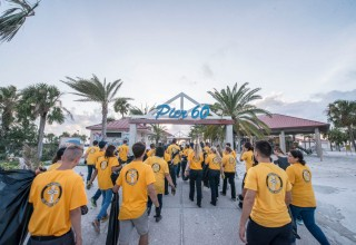 Scientology Volunteer Ministers, ready to clean up Clearwater Beach