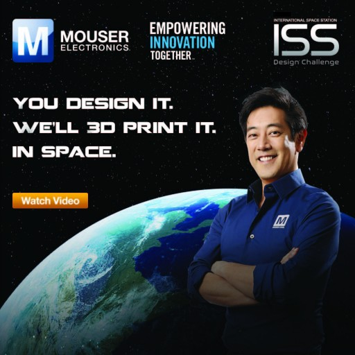 Watch Now: Exclusive Footage of Mouser Electronics' ISS Design Challenge Winning Device Being 3D-Printed in Space