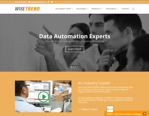 WiseTREND OCR & Data Capture, Inc. Launches Redesigned Website to Debut New Industry Solutions