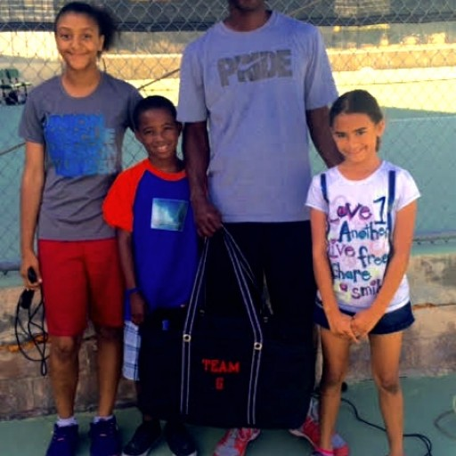 Team G Tennis Gives Scholarships to Children of Union Rescue Mission's Hope Gardens Family Center (HGFC).