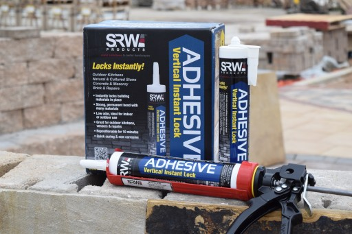 SRW Products Introduces a New Adhesive Technology to Lock Stone Into Place Instantly on Vertical Surfaces