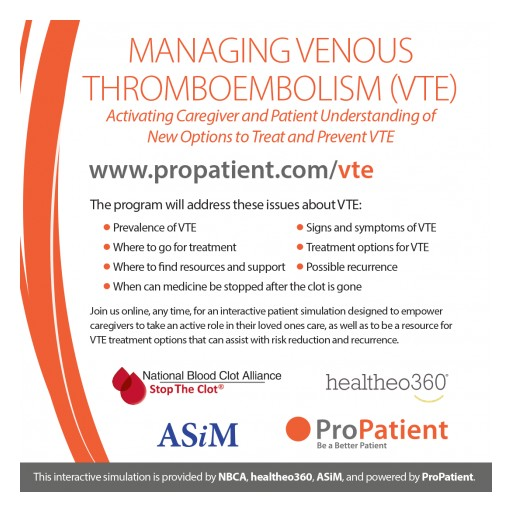 Activating Caregiver and Patient Understanding of New Options to Treat and Prevent VTE (Blood Clots)