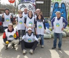 Volunteers from The Way to Happiness Foundation and the Church of Scientology Monza hold neighborhood cleanups to keep their city safe and green.
