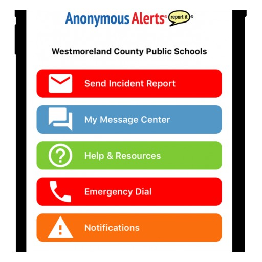 To Fight Bullying, Westmoreland County Public Schools Launches Anonymous Alerts®