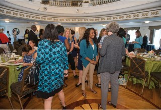 """Speed networking"" session at the Summer Charity Coalition hosted by the Church of Scientology at the Fort Harrison Crystal Ballroom"