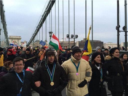 Scientologists March in Hungary for the Religious Freedom of All
