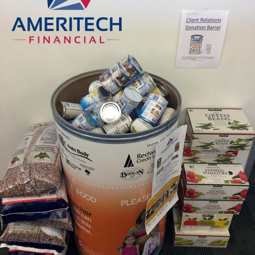 Ameritech Financial Helps Feed the Hungry in Sonoma County Through Office Food Drive