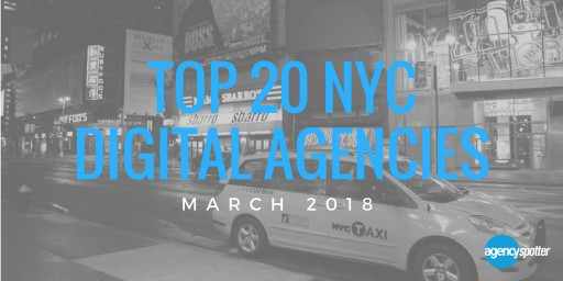 Agency Spotter Issues the Top 20 New York City Digital