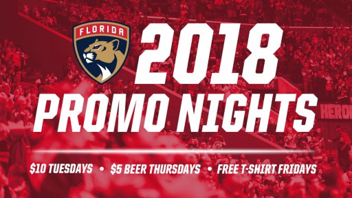 Florida Panthers Announce Promotions for 2018