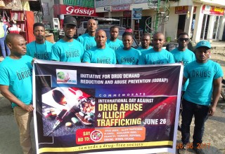 Chukwuma organized a corps of volunteers to march on International Day Against Drug Abuse and Illicit Trafficking.