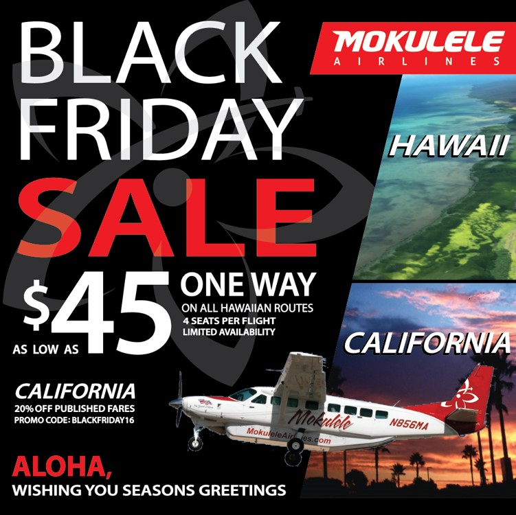 Mokulele to offer black friday fare sale for all hawaii and additional images sciox Images