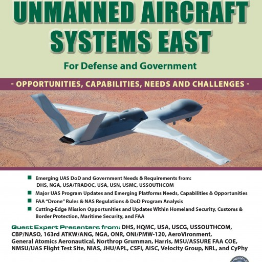 Technology Training Corporation (TTC) Announces 'Unmanned Aircraft Systems East' for Defense and Government, November 7-8, 2017