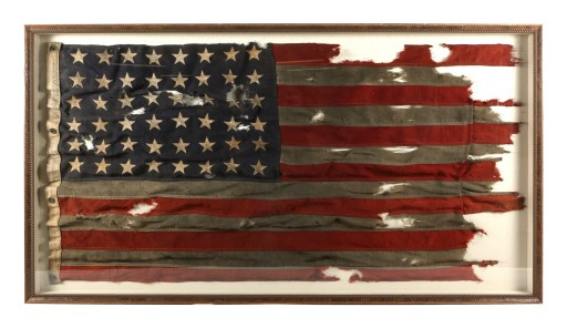 Historically Important WWII D-Day Flag of LCT 530 - Utah Beach, Normandy - to Sell at Public Auction