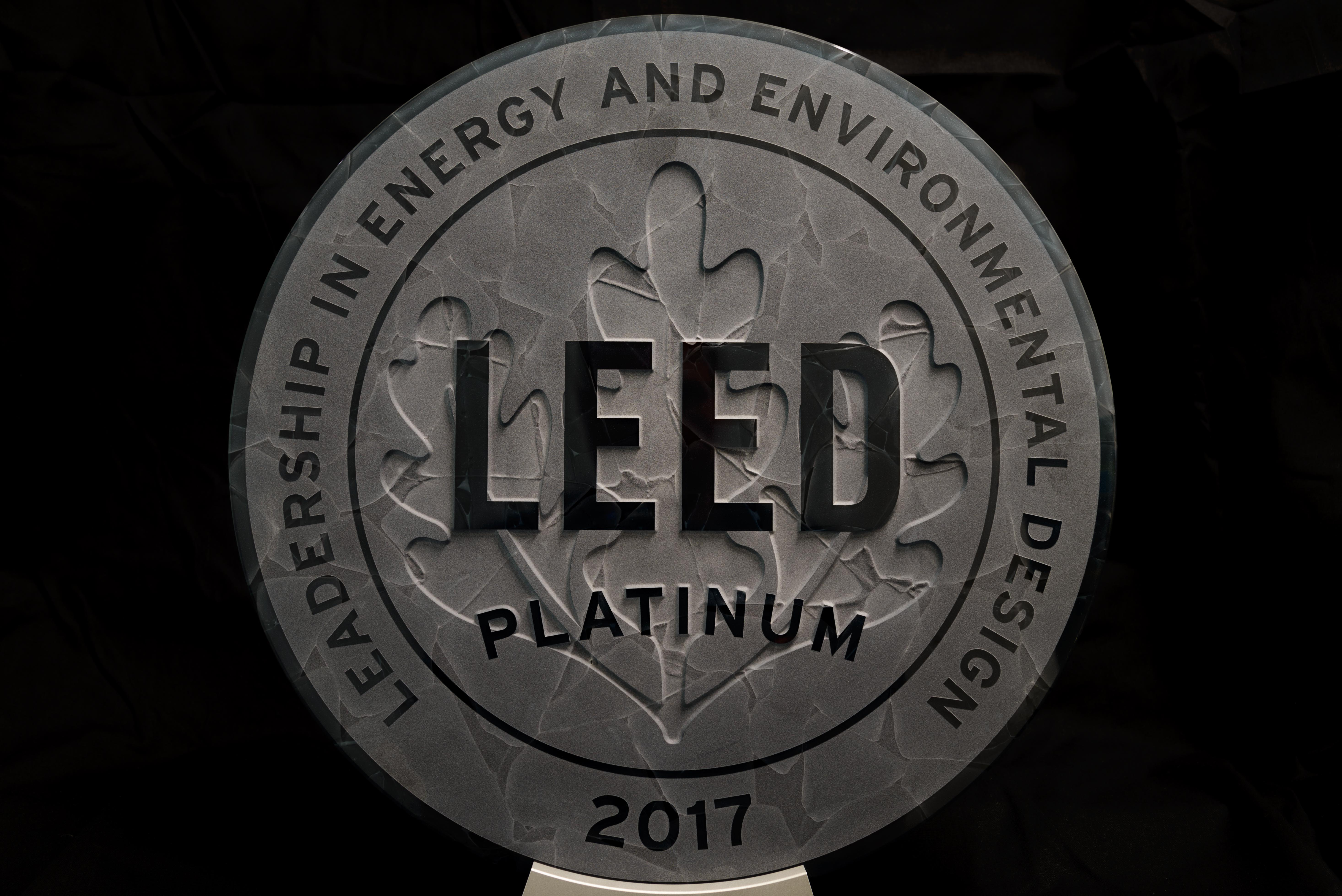 Harc awarded prestigious leed platinum green building for Platinum leed certification