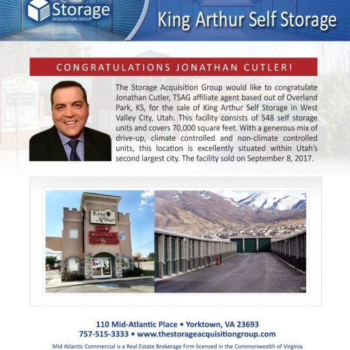 The Storage Acquisition Group Announces the Sale of King Arthur Self Storage in West Valley City