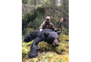 Rick Kreuter's Monster Bear Shot with Veteran Broadheads