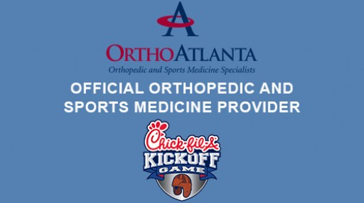 OrthoAtlanta is the Official Sports Medicine Provider of the 2017 Chick-fil-A Kickoff Games on September 2 & 4