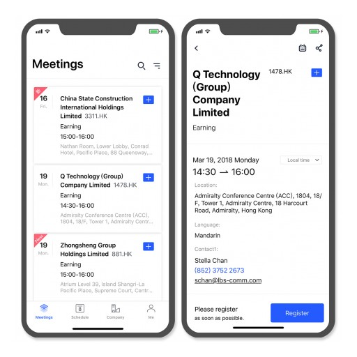 BABA Meeting Launched Investor Calendar APP 2.0 — Meeting is Simple