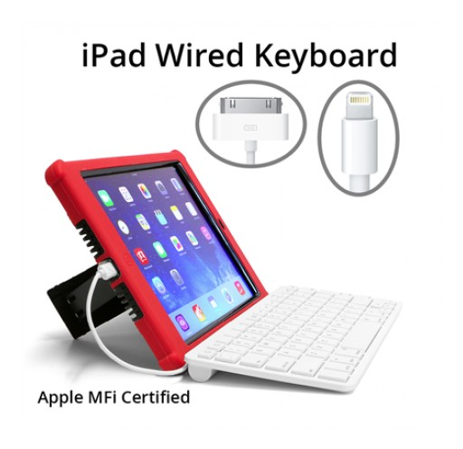 Wired Keyboards for iPad Make iPads Serious Writing Tools, Made for Schools