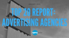 Top 20 Advertising Agencies from Agency Spotter January 2018 Report