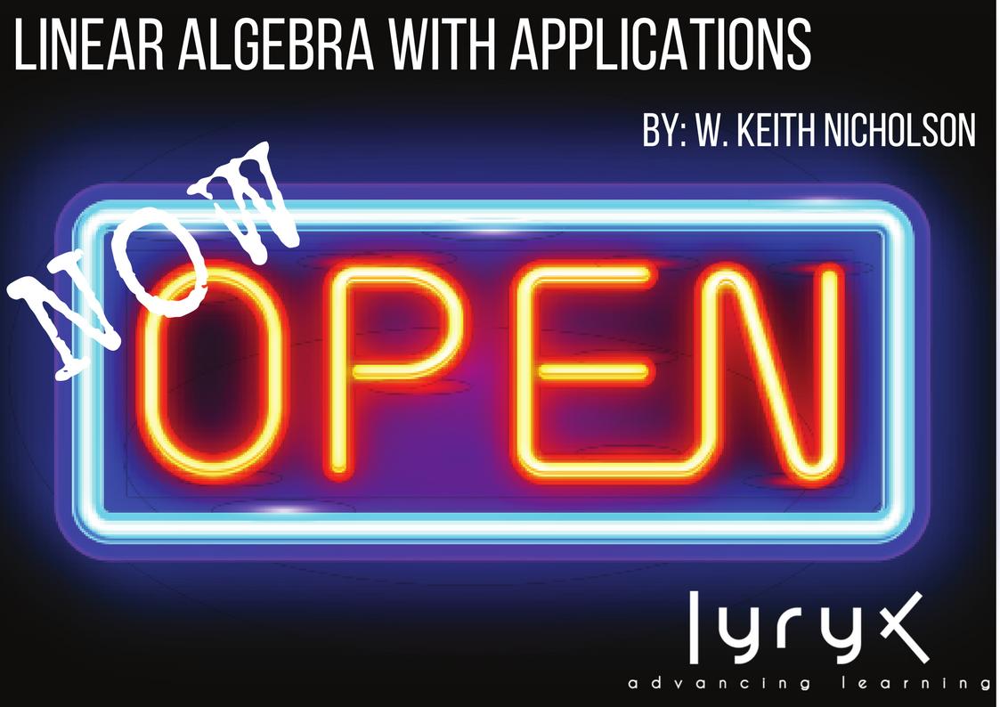 keith nicholson linear algebra pdf