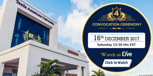 Texila American University to Hold 4th Convocation on 16th December 2017