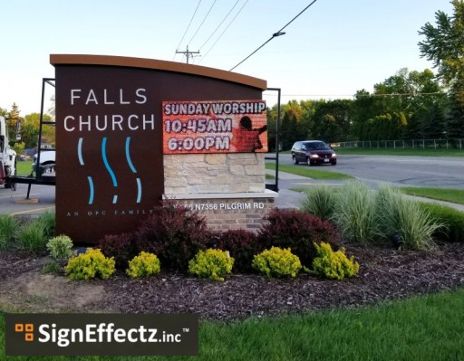 Falls Church Achieved a Valuable Goal With New LED Sign From Sign Effectz