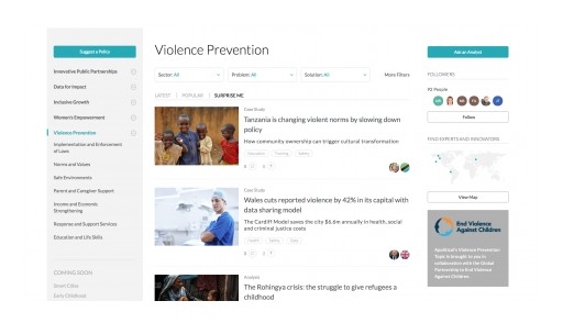 Apolitical Adds Violence Prevention to Its Global Peer-to-Peer Platform