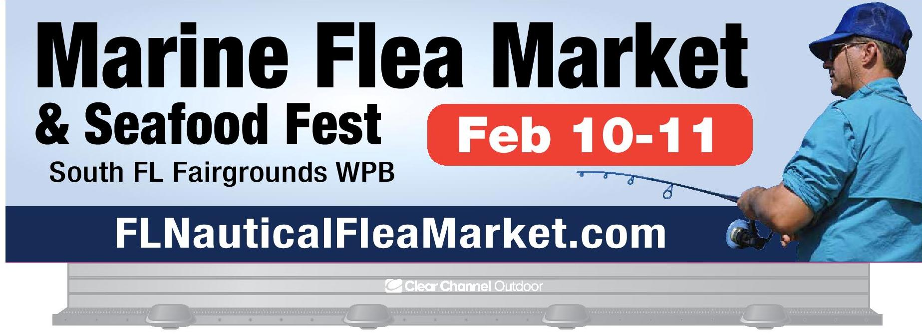 Marine flea market boat sale and seafood festival for Fishing flea market near me