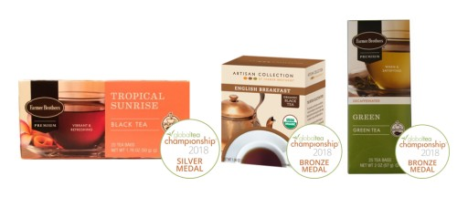 Farmer Brothers® Hot Teas Win Three Medals  at Global Tea Championship