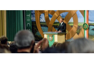 Mr. Miscavige's presence in Ireland's capital city marks the significance of the day, as he dedicates Dublin's new Church of Scientology and Community Centre.