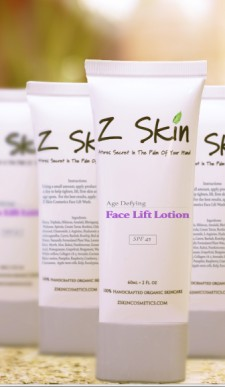 "Z Skin Cosmetics 100% organic skincare product ""Face lift lotion"""